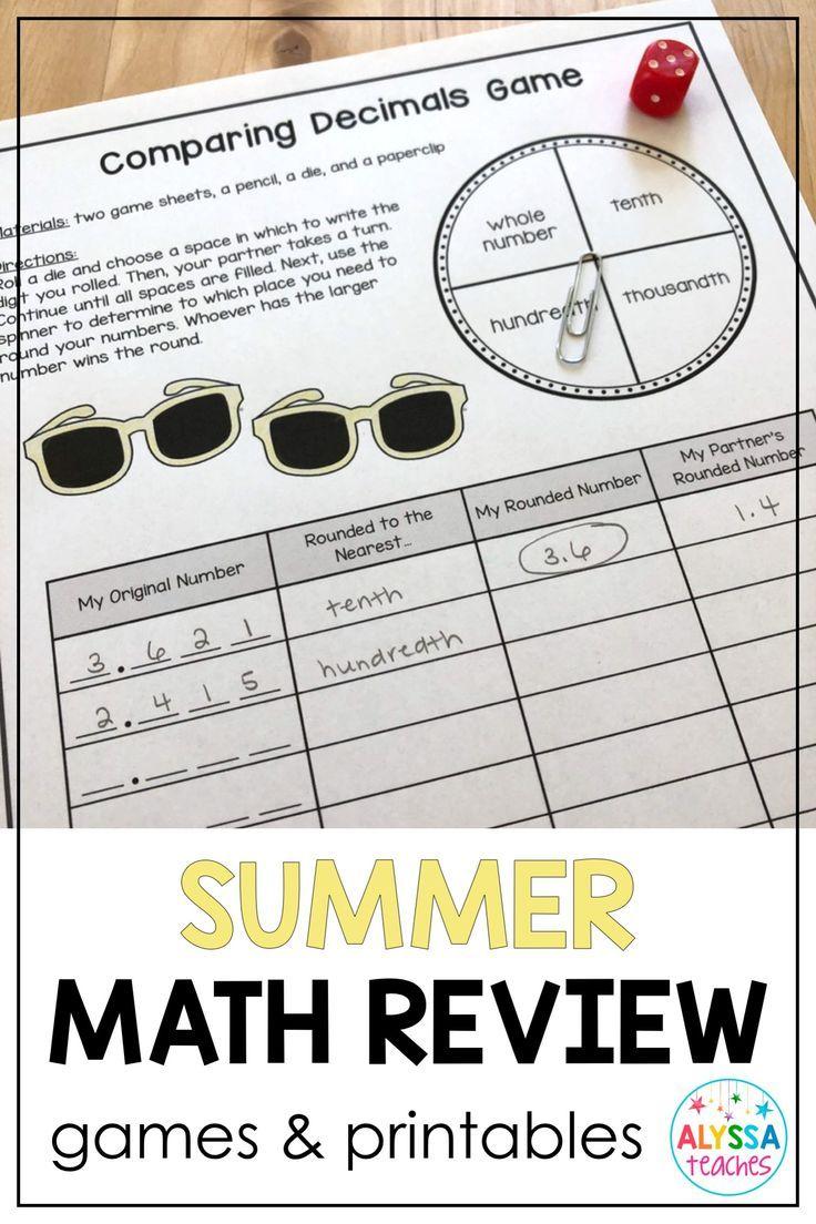 Elementary school teachers and parents worried about the summer slide LOVE  these fun summer math activities for …   Summer math [ 1104 x 736 Pixel ]