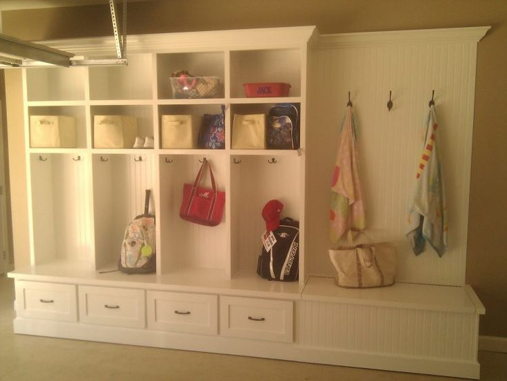White Mudroom Locker