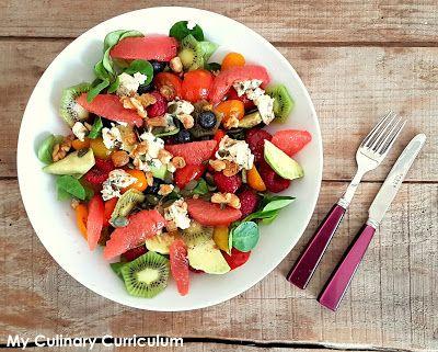My Culinary Curriculum: Salade fruitée au Roquefort (Fruited salade with R...