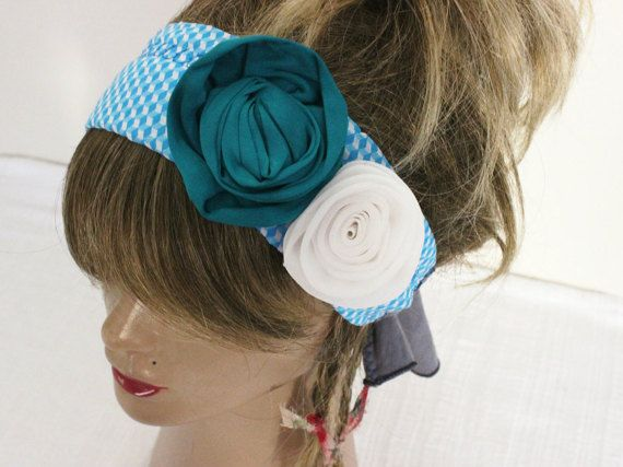 Rose Hair band Hippie Hair band Handmade by Nazcolleccolors