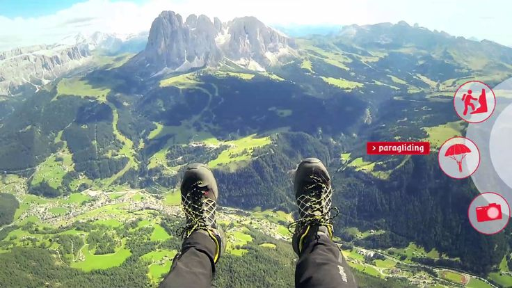Paragliding in Val Gardena - Dolomites -South Tyrol - Italy  www.valgardena.it