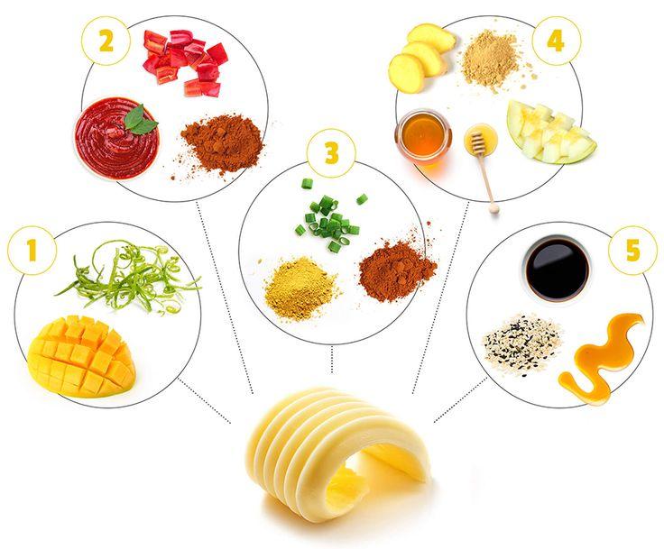 5 recettes de beurres aromatisés