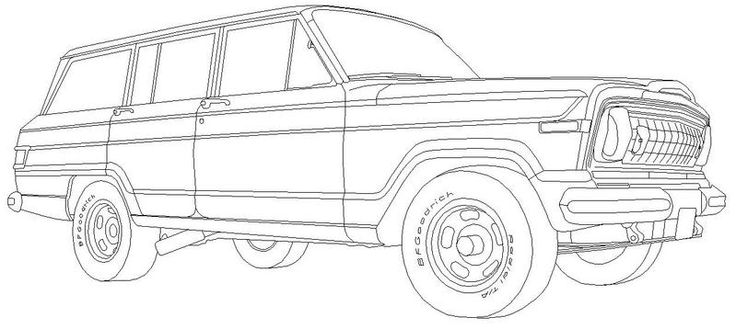 classic wagoneer for the jeep coloring book jeep coloring book pinterest coloring books and jeeps