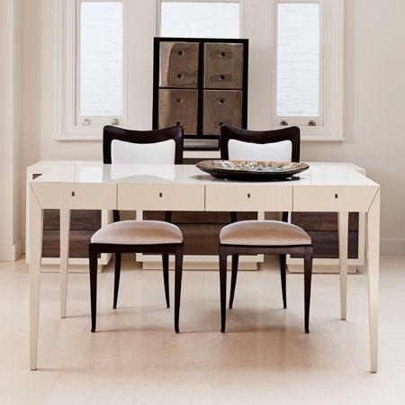 Generous glossy desk