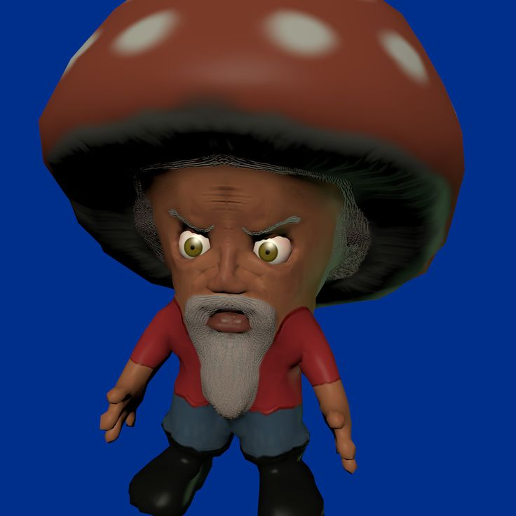Blender Mushroom - 3D Model