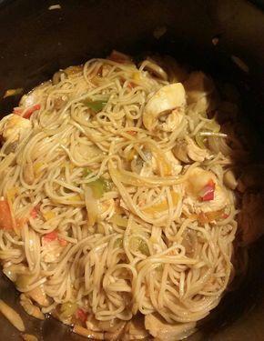 Nouilles chinoises au poulet | Recettes Cookéo