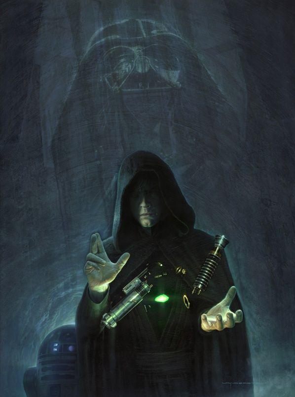 Luke Skywalker y Darth Vader