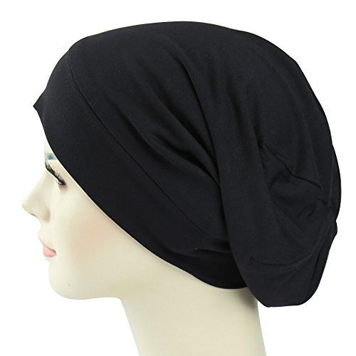 Satin Lined Sleep Cap For Long Hair Girl Casual Slouchy Beanie Wig  Accessories Headwear  Satin 19e30aee4d71