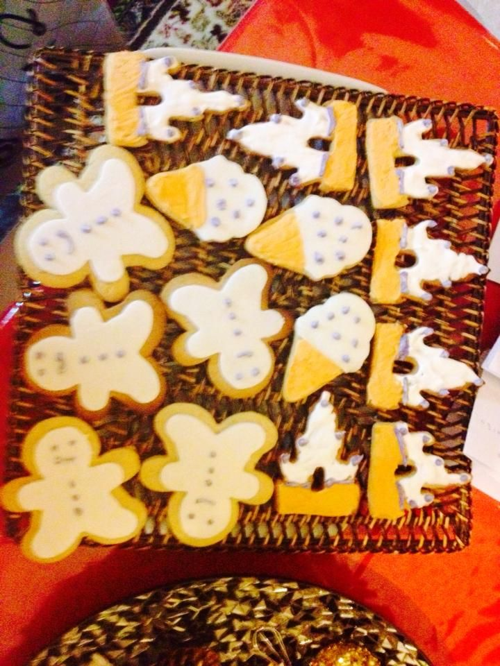 biscuits with sugarpaste...