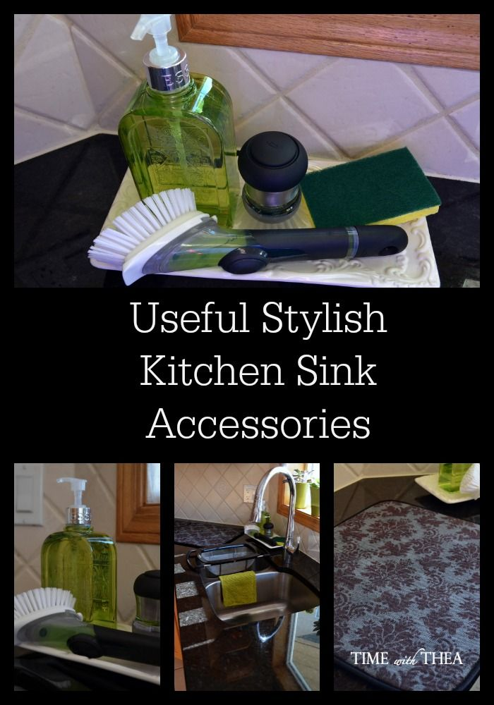Useful Stylish Kitchen Sink Accessories - Time With Thea