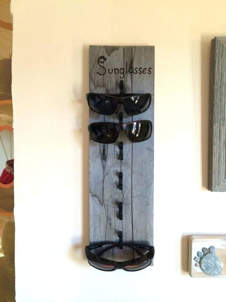 Sunglass Holder Wall Rack For Home Display Renter Friendly Es