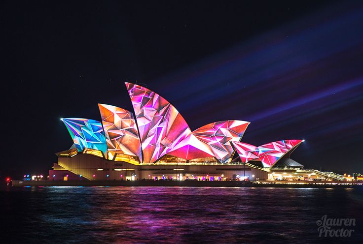 The iconic Opera House as seen at VIVID Sydney, 2014 - Lauren Proctor Photography