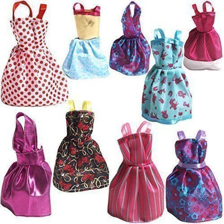 New Rainbow Handmade Clothes Dress for Barbie Mermaid Dolls Girl Toys, Pack of 9 #Rainbow