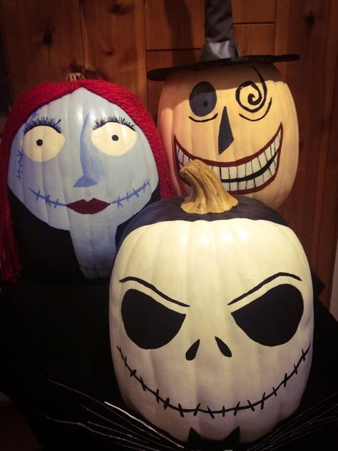 Nightmare Before Christmas Pumpkin Trio in 2018 Things for Cam