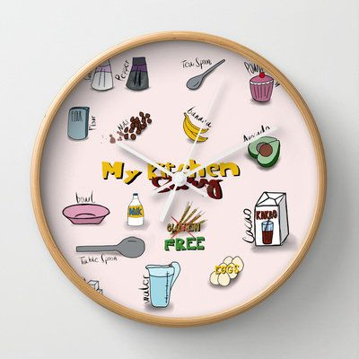 My kitchen story Wall Clock by ywanka from Society6