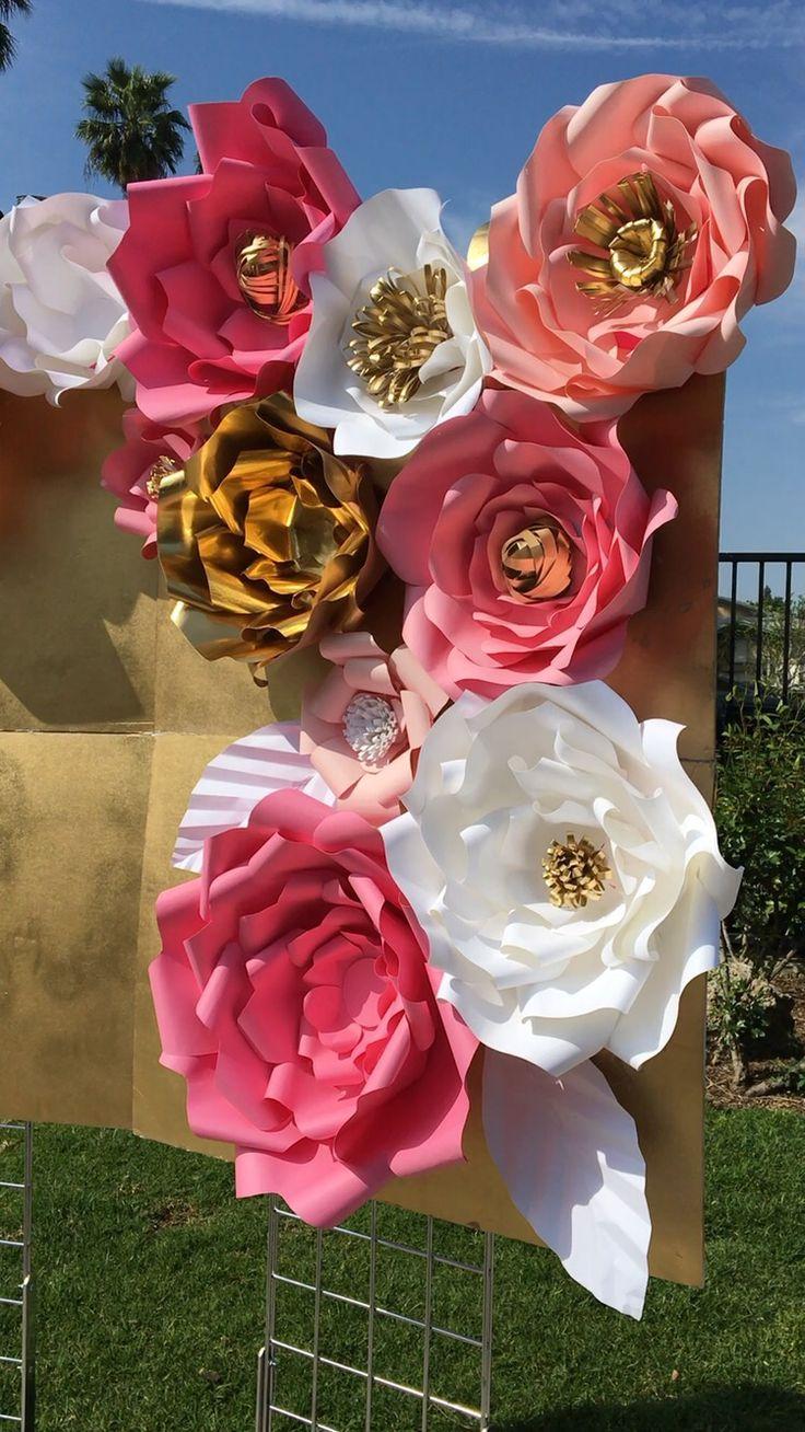 best flores de papel images on Pinterest  Paper flowers Diy