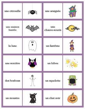 FRENCH HALLOWEEN DOMINOES GAME - TeachersPayTeachers.com