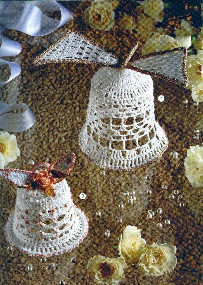 1000 images about deco crochet on pinterest crochet dreamcatcher crochet and dream catchers - Cloches de paques ...