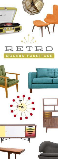 Get This Retro Look   Shop Now Modern Retro Furniture & Décor at http://dotandbo.com