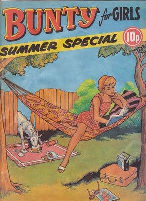 Bunty comic every tuesday couldn't wait for it to arrive...mid 60s for me...especially loved the summer specials.