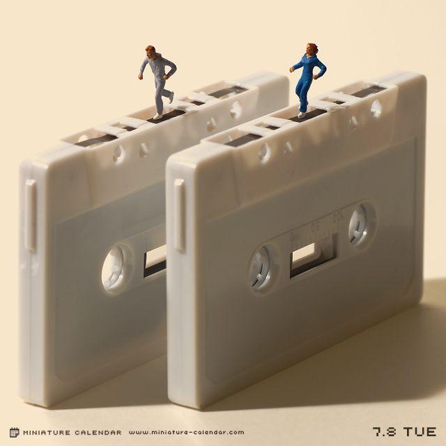 Un diorama miniature par jour avec des objets détournés calendrier diorama miniature 05