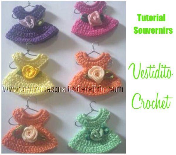 Crochet y Dos agujas: CURSO GRATIS CROCHET: Vestidito Souvenir - Videos ༺✿ƬⱤღ✿༻