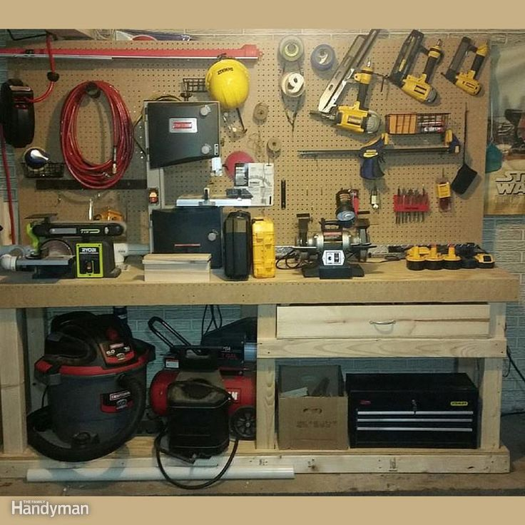 Simple Workbench Plans Garage: 57 Best Workbench Plans Images On Pinterest