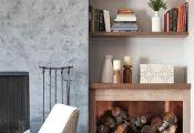 Le range buches décoratif – idées magnifiques en 40 photos