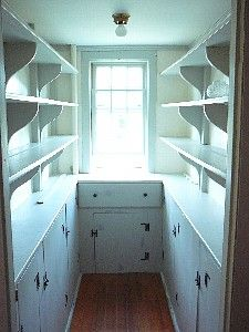 Old fashioned pantry space...reminds me of my grandmother's pantry