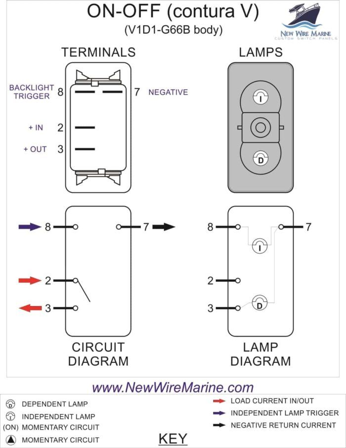 Radar Illuminated Rocker Switch Contura V New Wire Marine Toggle Switch Switch Diagram