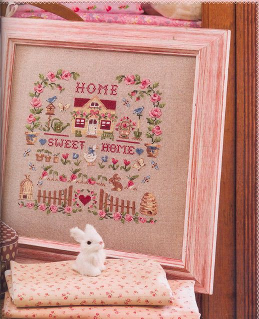 Sweet Home embroidery