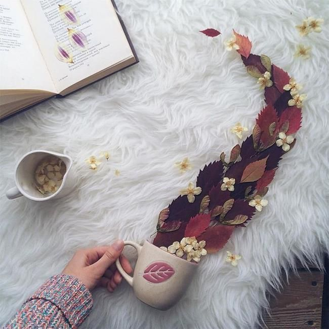 Rus Sanatçı Marina Malinovaya'dan Fincan ve Çiçeklerle Yapılmış 20 Muazzam Çalışma Sanatlı Bi Blog 16