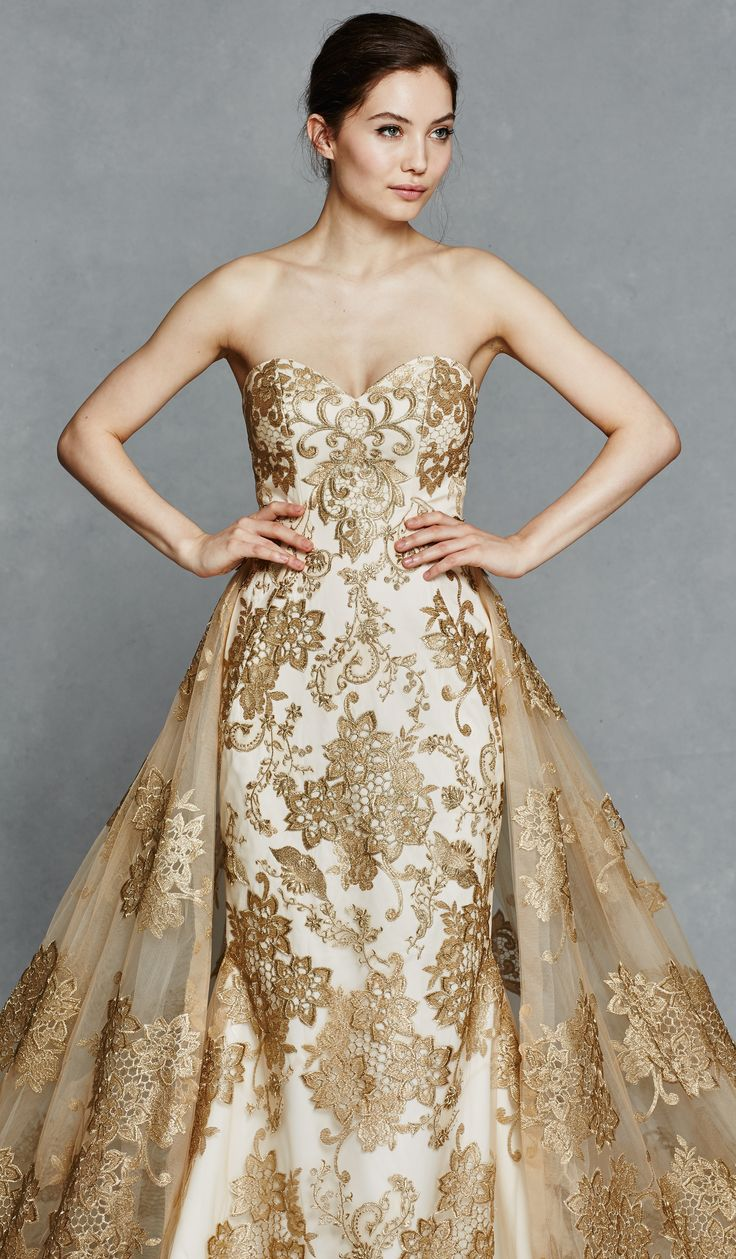 1000+ ideas about Gold Wedding Gowns on Pinterest | Gold ...