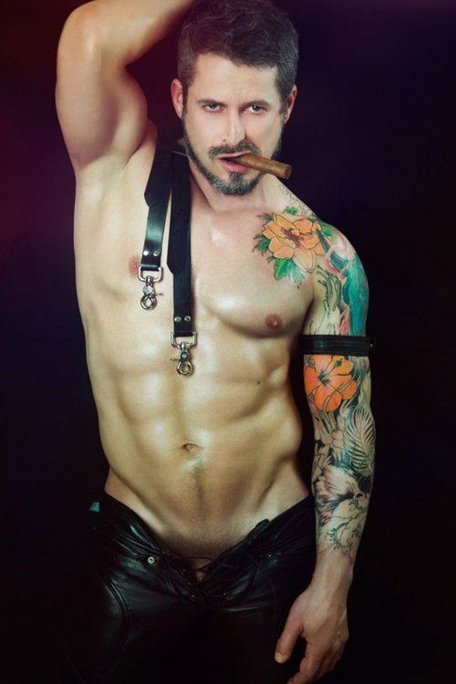 aroused tattooed guy hot fucking