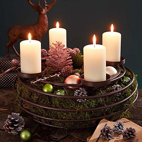 advent wreath candle holder metal 39 cm christmas. Black Bedroom Furniture Sets. Home Design Ideas