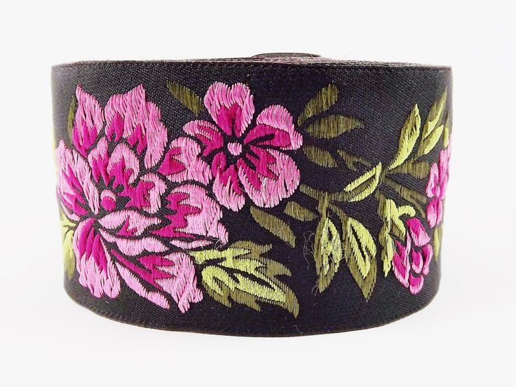 Violet Pink Peony Flower Woven Embroidered Jacquard Trim Ribbon - 1 Meter  or 3.3 Feet or 1.09 Yards by LylaSupplies on Etsy https://www.etsy.com/listing/202309929/violet-pink-peony-flower-woven