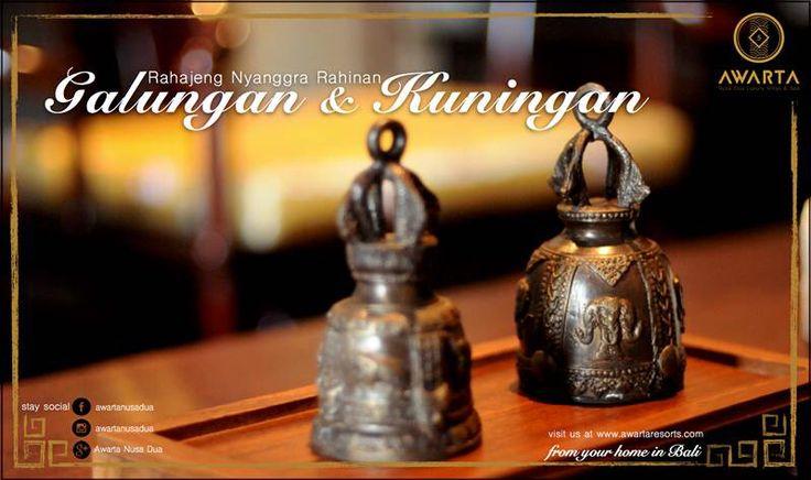 Om Swastiastu and good morning.   It's the day where Balinese celebrate the triumph of dharma over adharma, the good over the evil.    Rahajeng Nyanggra Rahinan Galungan & Kuningan. We wish you a happy Galungan & Kuningan!    #AwartaNusaDua #GalunganKuningan #Bali