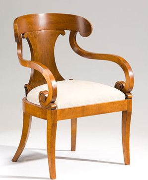 Biedermeier Style Carved Maple Armchair Armchairswww.houzz.com