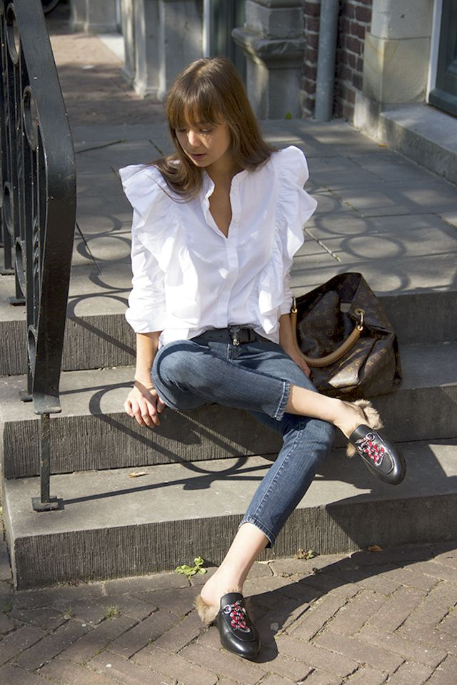 How Bloggers Wear H&M's Ruffled Blouse