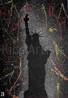 Splattering fireworks