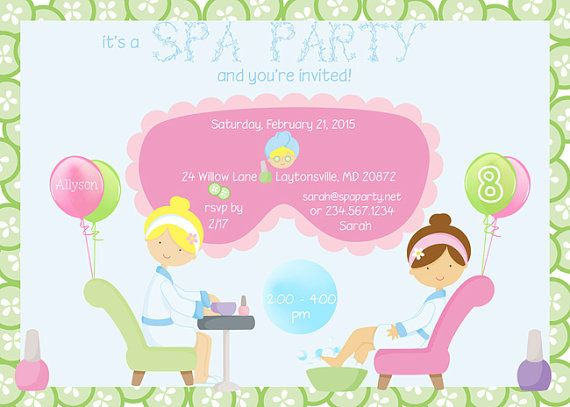 31 best Girl Slumber Party Ideas images – Pedicure Party Invitations