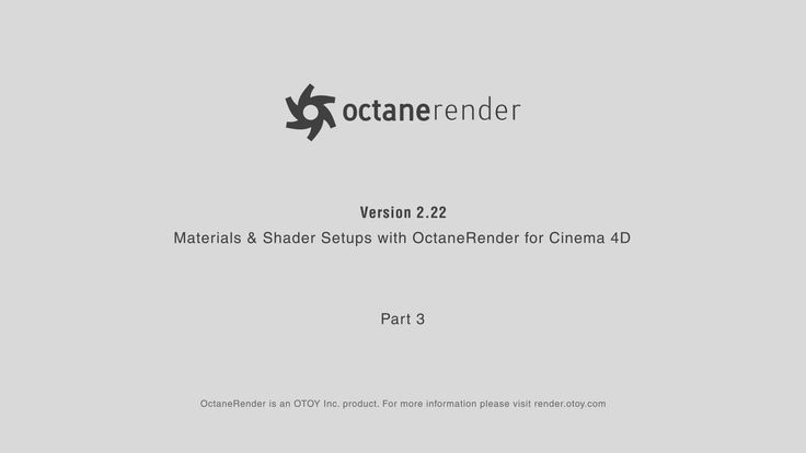 Materials and Shader Setups with Octane Render for Cinema 4D / Part 3 on Vimeo