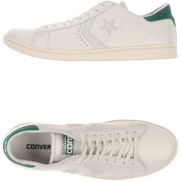 Converse Cons Sneakers ($170) ❤ liked on Polyvore featuring men's fashion, men's shoes, men's sneakers, white, converse mens sneakers, mens white sneakers, mens leather sneakers, mens flat shoes and mens leather shoes