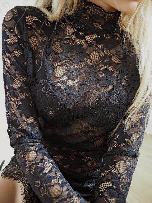 Neo Noir Liza blondebluse sort - Tøj