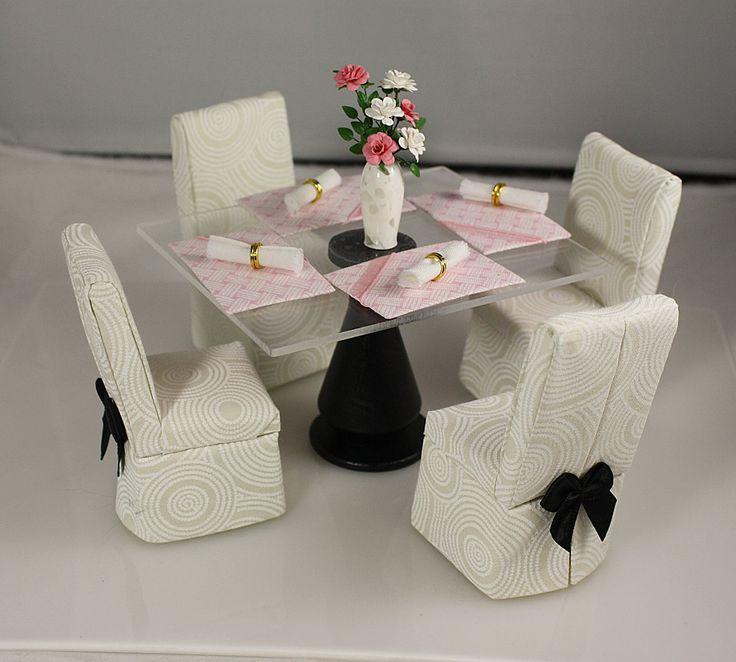 Elegant handmade 1/12 scale dining furniture.  Free shipping to customers in Ontario, Canada.  Visit our website for more details www.smallscaleshowcase.com