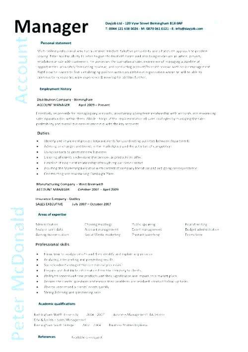 Mcdonalds Manager Resume