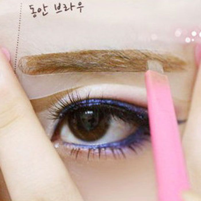 32 Best Stencils Images On Pinterest Eyebrow Stencil Eye Brows