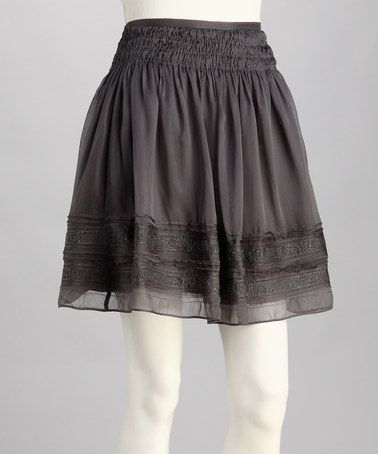 Take a look at this Charcoal Skirt by Blue Tassel on #zulily today!