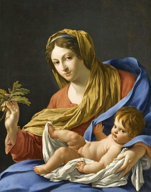Madonna and Child - Simon Vouet