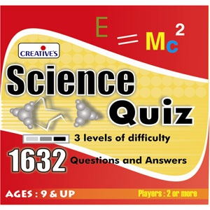 Science Quiz — Amazing collection of General Knowledge Questions and Answers. This is a complete educational game for kids, each kit comprises 1632 questions and answers in three levels of difficulty for individual or group play.
